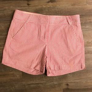 J. Crew Pink Seersucker Shorts